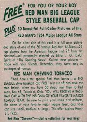 1954 Red Man #AL19 Chico Carrasquel back image
