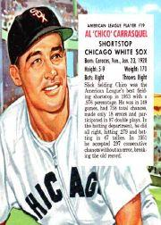 1954 Red Man #AL19 Chico Carrasquel front image