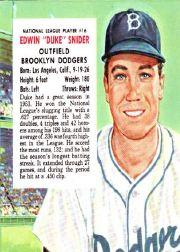 1954 Red Man #NL16 Duke Snider