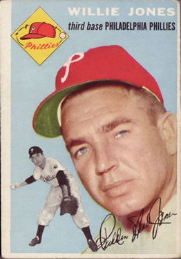 1954 Topps #41 Willie Jones