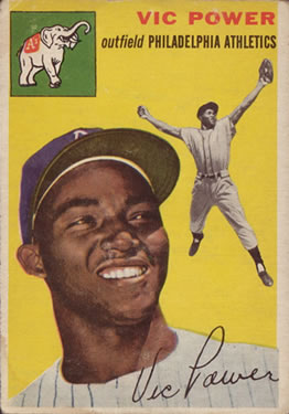 1954 Topps #52 Vic Power RC