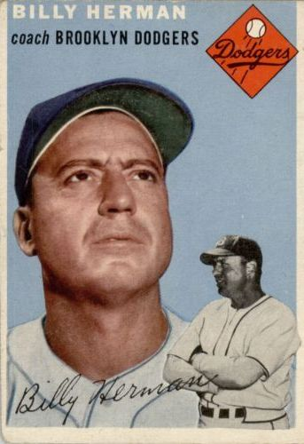 1954 Topps #86 Billy Herman CO