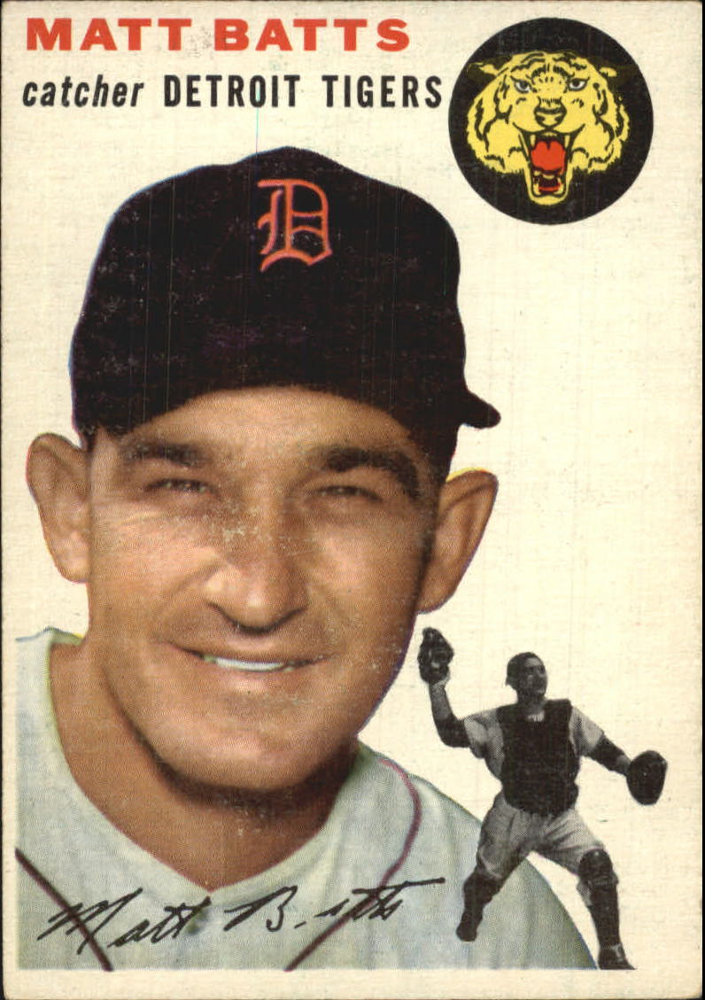 1954 Topps #88 Matt Batts