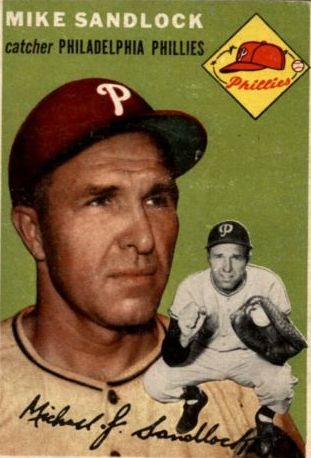 1954 Topps #104 Mike Sandlock front image