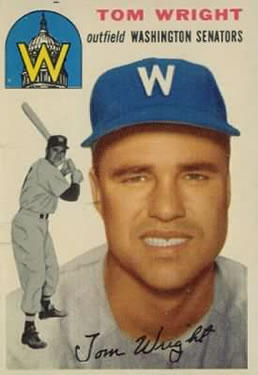 1954 Topps #140 Tom Wright