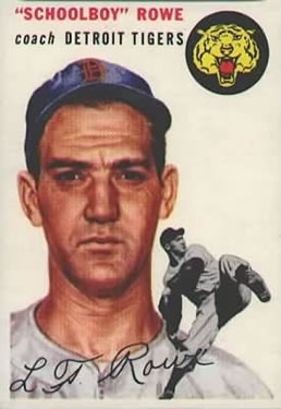 1954 Topps #197 Lynwood Rowe CO/(Schoolboy)