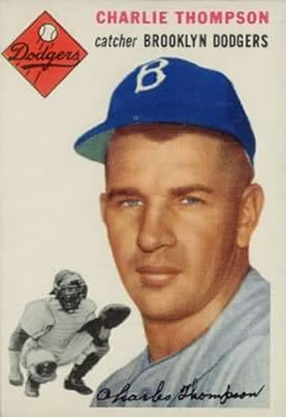1954 Topps #209 Chuck Thompson RC