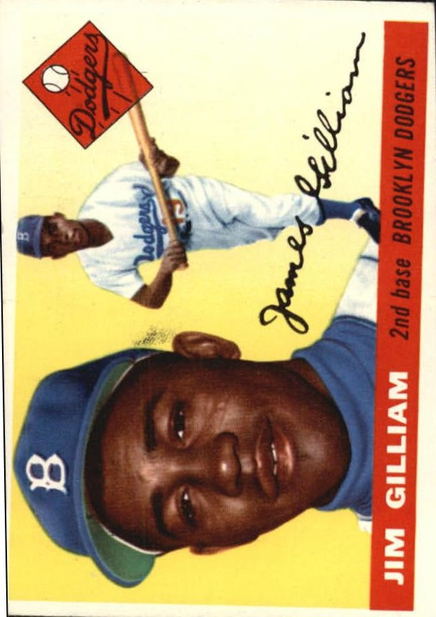 1955 Topps #5 Jim Gilliam front image
