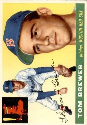 1955 Topps #83 Tom Brewer RC