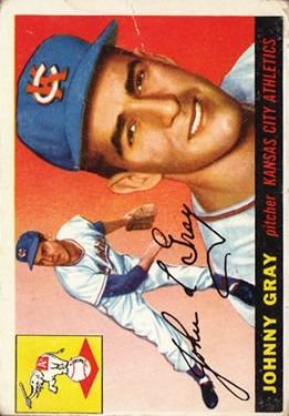 1955 Topps #101 Johnny Gray RC