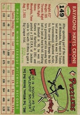 1955 Topps #149 Ray Crone