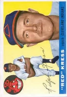 1955 Topps #151 Ralph Kress CO