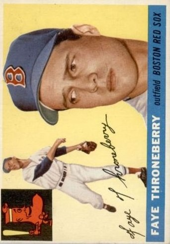 1955 Topps #163 Faye Throneberry front image