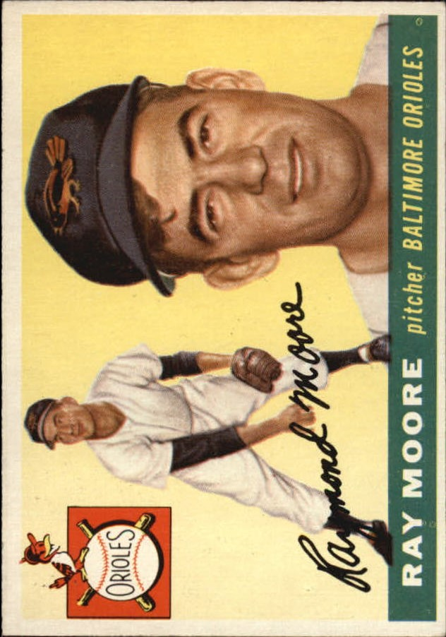 1955 Topps #208 Ray Moore RC