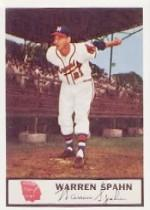 1955 Braves Johnston Cookies #21 Warren Spahn P3