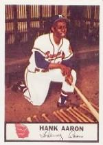 1955 Braves Johnston Cookies #44 Hank Aaron P1