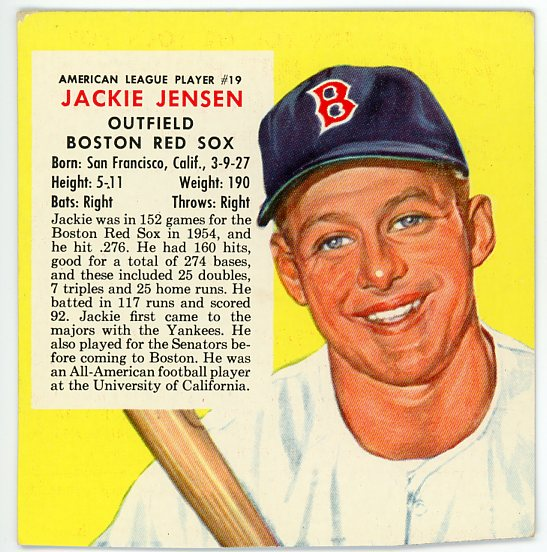 1955 Red Man #AL19 Jackie Jensen