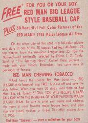1955 Red Man #AL25 Sandy Consuegra back image