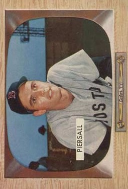 1955 Bowman #16 Jimmy Piersall