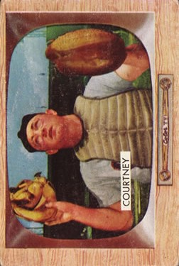1955 Bowman #34 Clint Courtney
