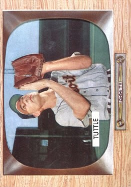 1955 Bowman #35 Bill Tuttle RC