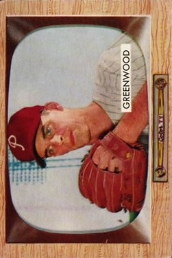 1955 Bowman #42 Bob Greenwood RC