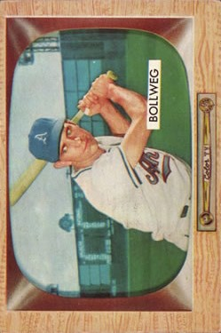 1955 Bowman #54 Don Bollweg