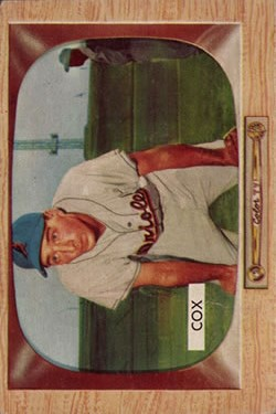 1955 Bowman #56 Billy Cox