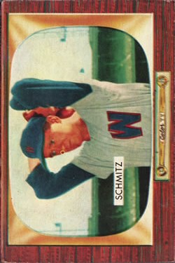 1955 Bowman #105 Johnny Schmitz