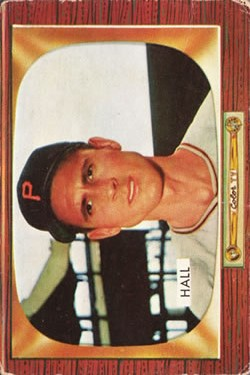 1955 Bowman #113 Bob Hall RC
