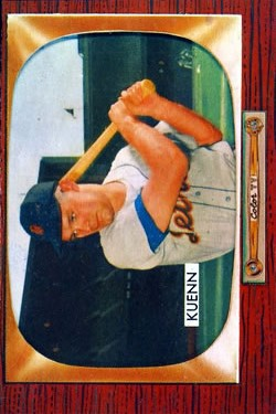 1955 Bowman #132B Harvey Kuenn COR