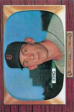 1955 Bowman #133 Charles King RC