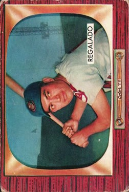 1955 Bowman #142 Rudy Regalado RC