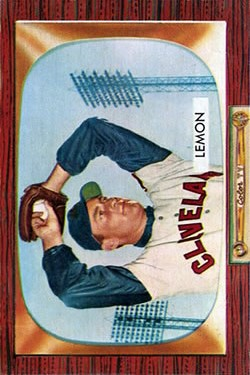 1955 Bowman #191 Bob Lemon