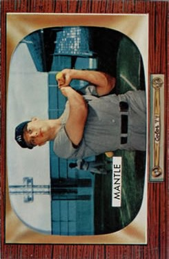 1955 Bowman #202 Mickey Mantle UER (Birthdate listed as 10/30/31 but should be 10/20/31)