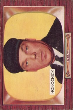 1955 Bowman #267 Jim Honochick UMP