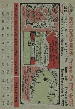 1956 Topps #21 Joe Collins DP