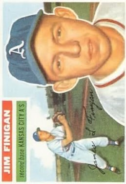1956 Topps #22 Jim Finigan front image