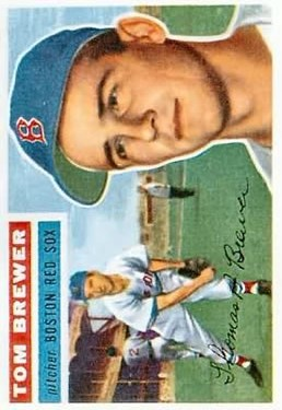 1956 Topps #34 Tom Brewer DP front image