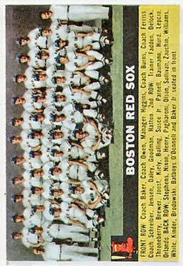 1956 Topps #111 Boston Red Sox TC