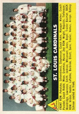 1956 Topps #134 St. Louis Cardinals TC