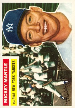 1956 Topps #135 Mickey Mantle front image