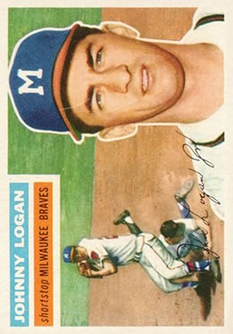 1956 Topps #136 Johnny Logan