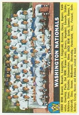 1956 Topps #146 Washington Nationals TC