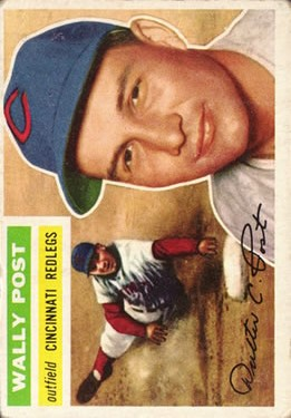 1956 Topps #158 Wally Post