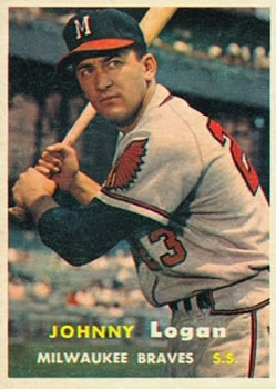1957 Topps #4 Johnny Logan