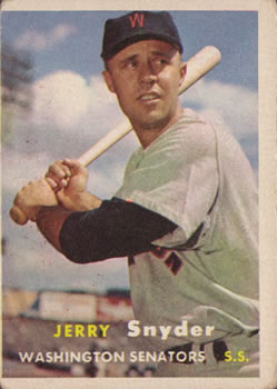 1957 Topps #22 Jerry Snyder UER/Photo actually Ed Fitzgerald front image