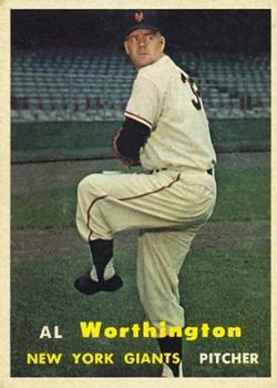 1957 Topps #39 Al Worthington RC