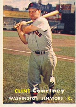 1957 Topps #51 Clint Courtney