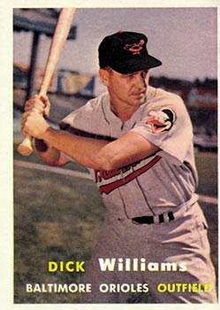 1957 Topps #59 Dick Williams